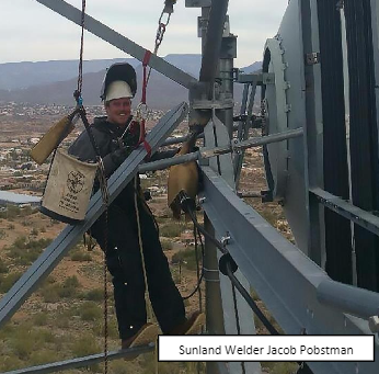welding on towers