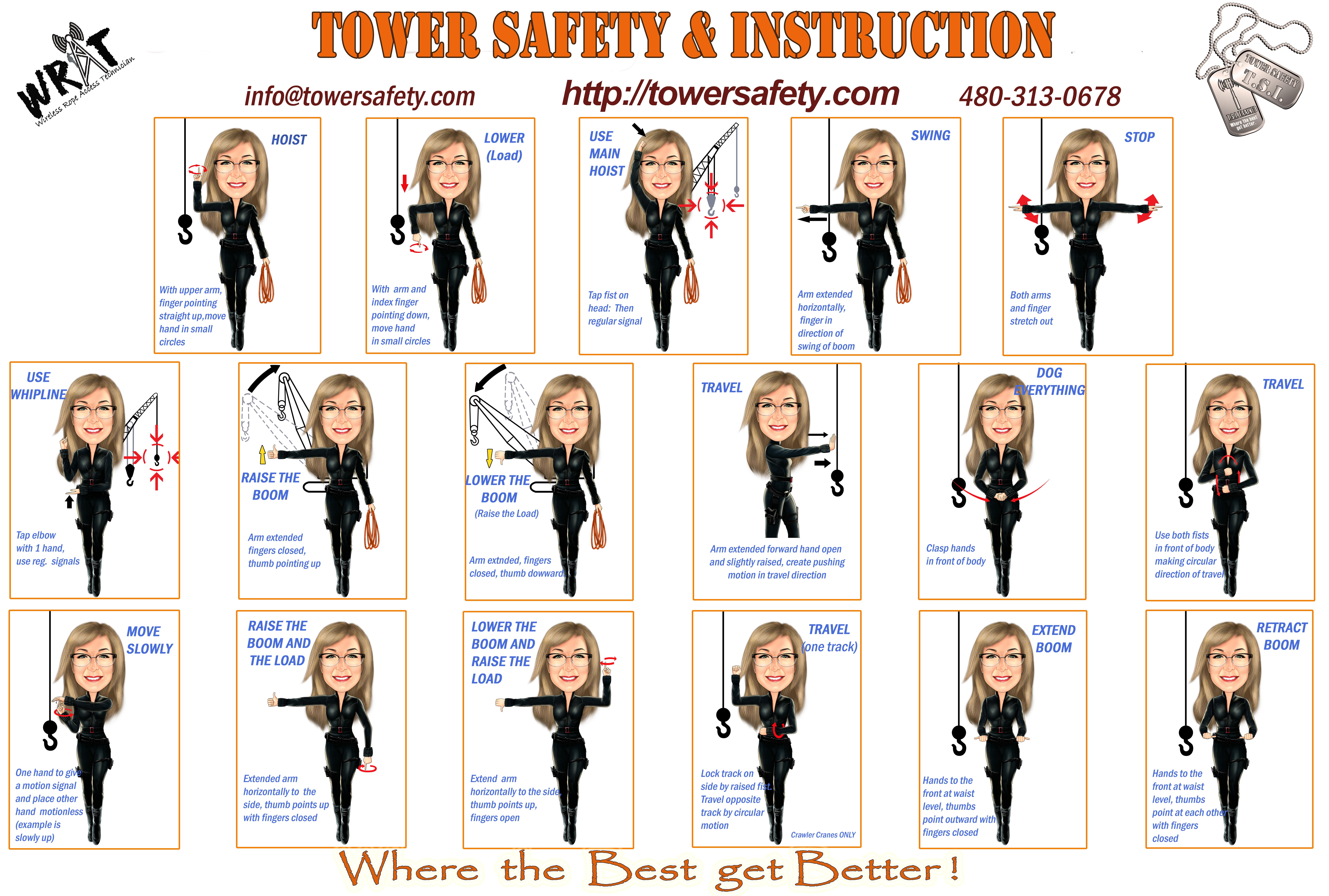 Tower safety crane signals, crane signals