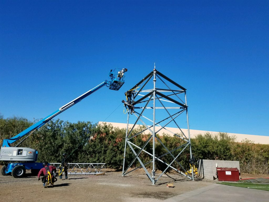 Tower safety aerial lift training